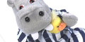 Free Silent Night Hippo Soft Toy