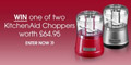 Win 1 of 2 KitchenAid Choppers