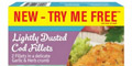 Free Lightly Dusted Cod Fillets from Birds Eye