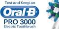 Free OralB Pro 3000 Electric Toothbrush