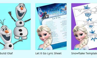 Free Disney Frozen Kids Activity Pack