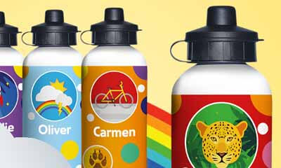 Free Personalised Water Bottle from Kinder