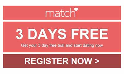 Free 3 Day Full Access to Match.com