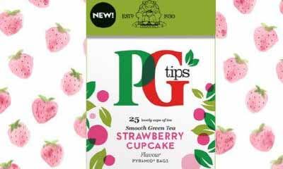 Free PG Tips Green Tea Strawberry Cupcake