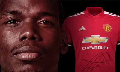 Win a Manchester United Shirt Signed by Paul Pogba