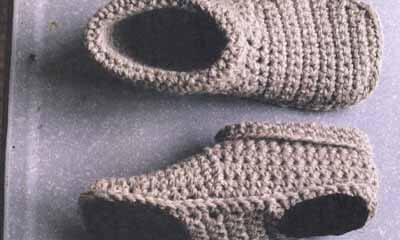 Free Slipper Boots Crochet Pattern
