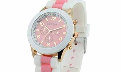 Free Women's Geneva Silicone Band Jelly Gel Quartz Watch