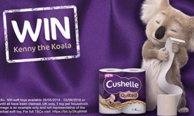 Free Kenny Koala Soft Toy from Cushelle