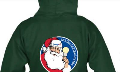 Free Christmas Santa Hoodies from Screwfix