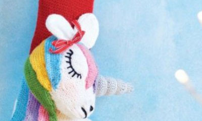 Free Knit Pattern Unicorn Christmas Stocking