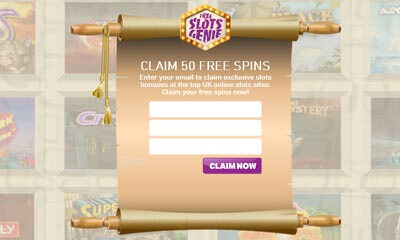 50 Free Spins with Slots Genie