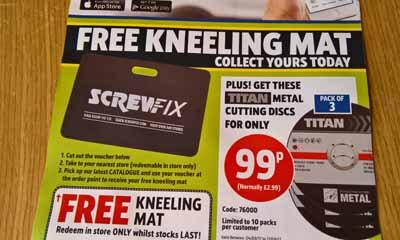 Free Kneeling Mat From Screwfix