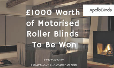 Win 1 of 2 Motorised Roller Blinds worth £500