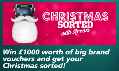Win Shopping Vouchers worth £1,000 with Arriva Bus