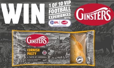 Win 1 of 10 Football League Experiences with Ginsters