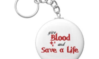 Free Give Blood Key Ring