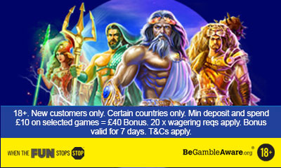 50 Free Spins when you Deposit £10