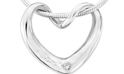 Win Silver Twisted Heart Necklace from Argent of London