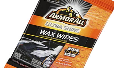 Free Armor All Wax Wipes