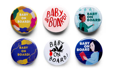 Free Baby On Board Badges