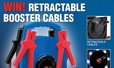 Win 1 if 4 Retractable Booster Cable Packs