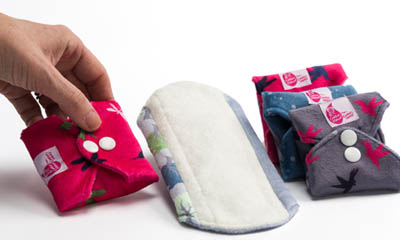 Free Cotton Sanitary Pads from Cheeky Wipes