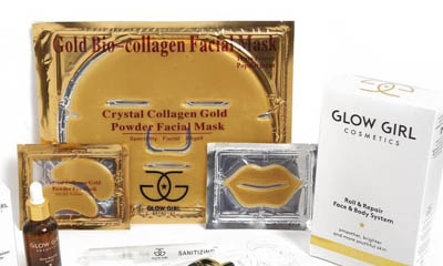 Free Glow Girl Collagen Gold Powder Face Masks