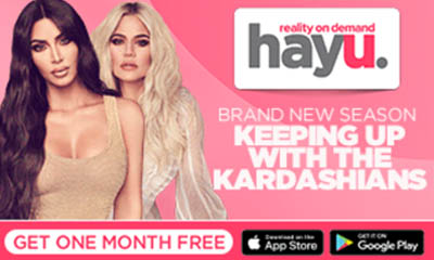 One Month Free Trial of hayu - Home of Reality TV