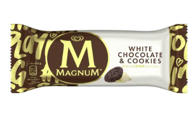 Free Magnum White Chocolate & Cookies  Ice Cream
