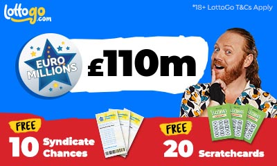 £110m EuroMillions Rollover Plus 20 scratchcards FREE