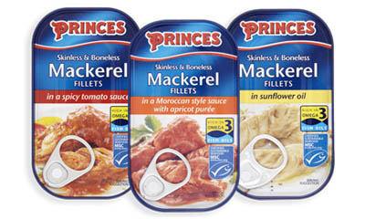 Free Tin of Princes Mackerel Fillets