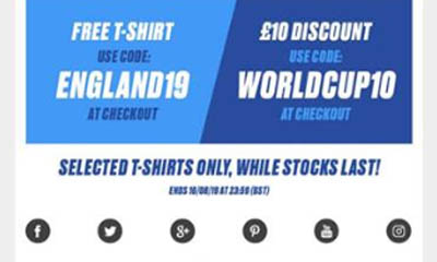 Free T-Shirt & £10 Sports Direct Discount Code