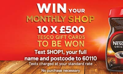 Win a £500 Tesco Gift Card
