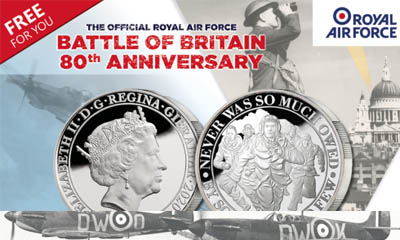 Free Battle of Britain Coin