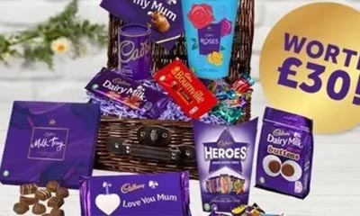 Free Mothers Day Cadbury Hamper