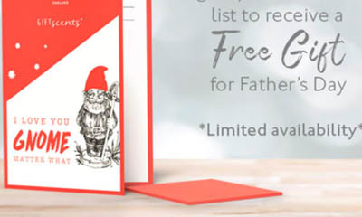 Free Scented Father's Day Gift Card