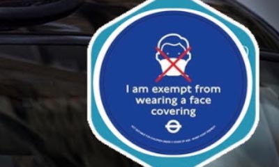 Free Face Covering Exemption Badge from TFL